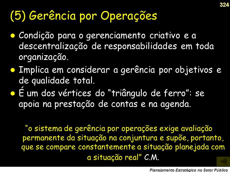 (5) Gerência por Operações