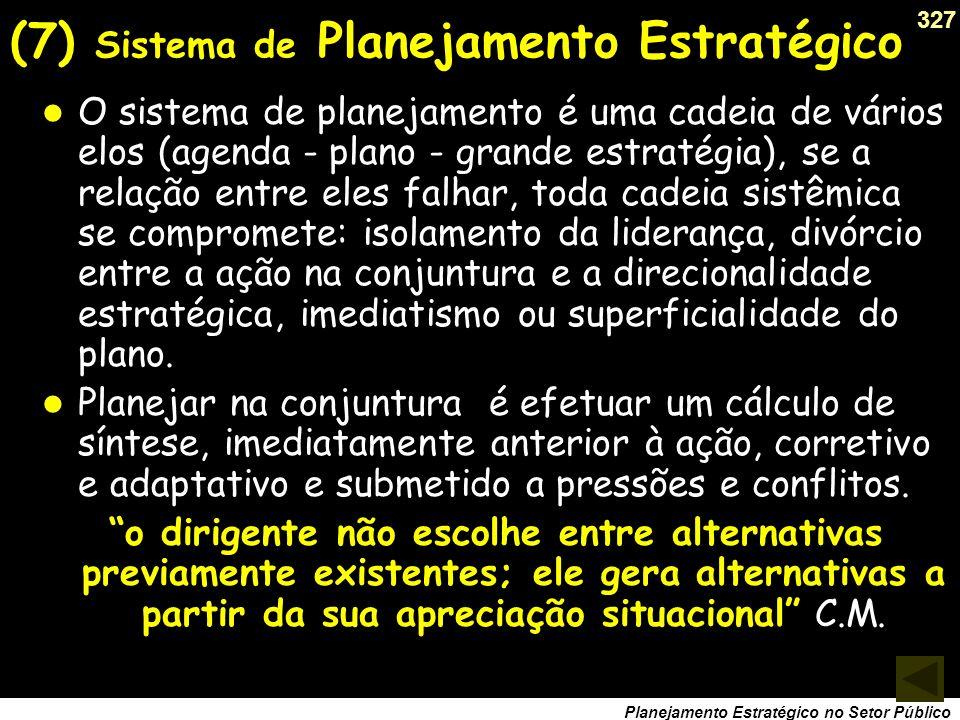 (7) Sistema de Planejamento Estratégico