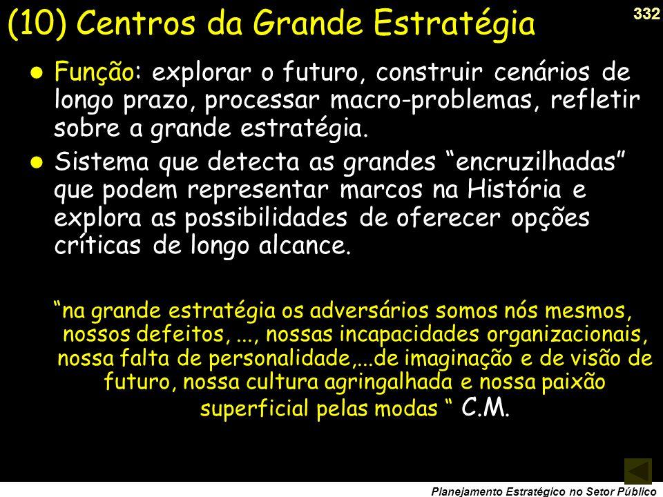(10) Centros da Grande Estratégia
