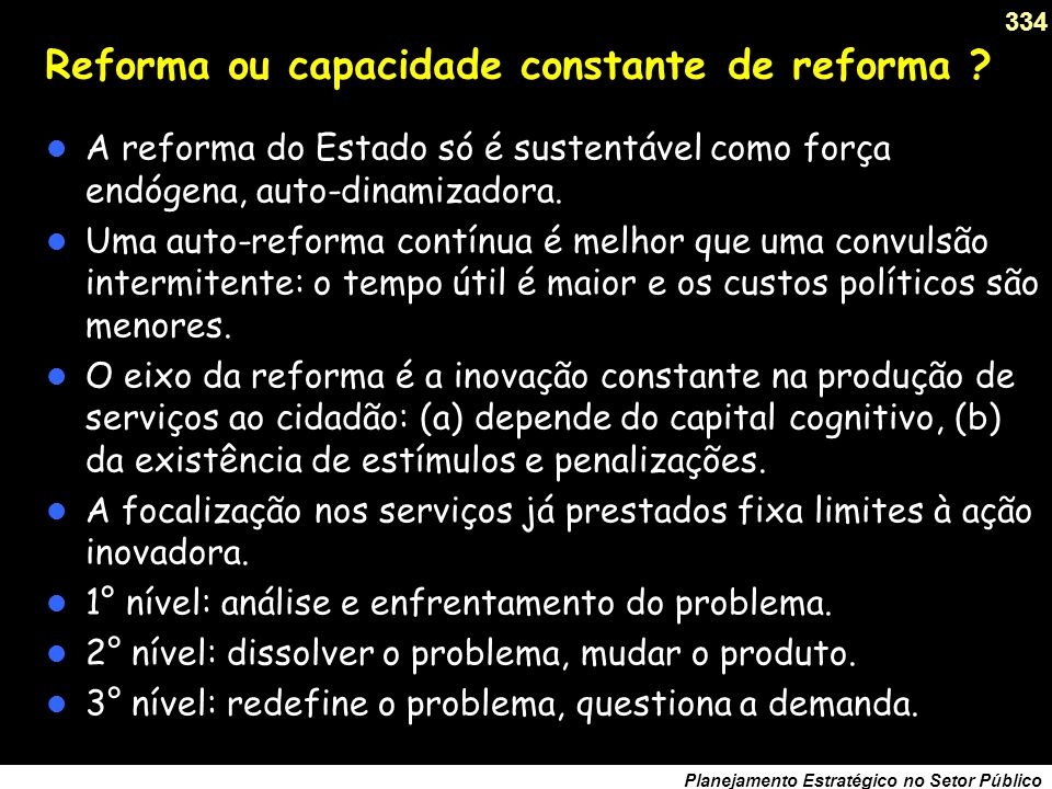 Reforma ou capacidade constante de reforma