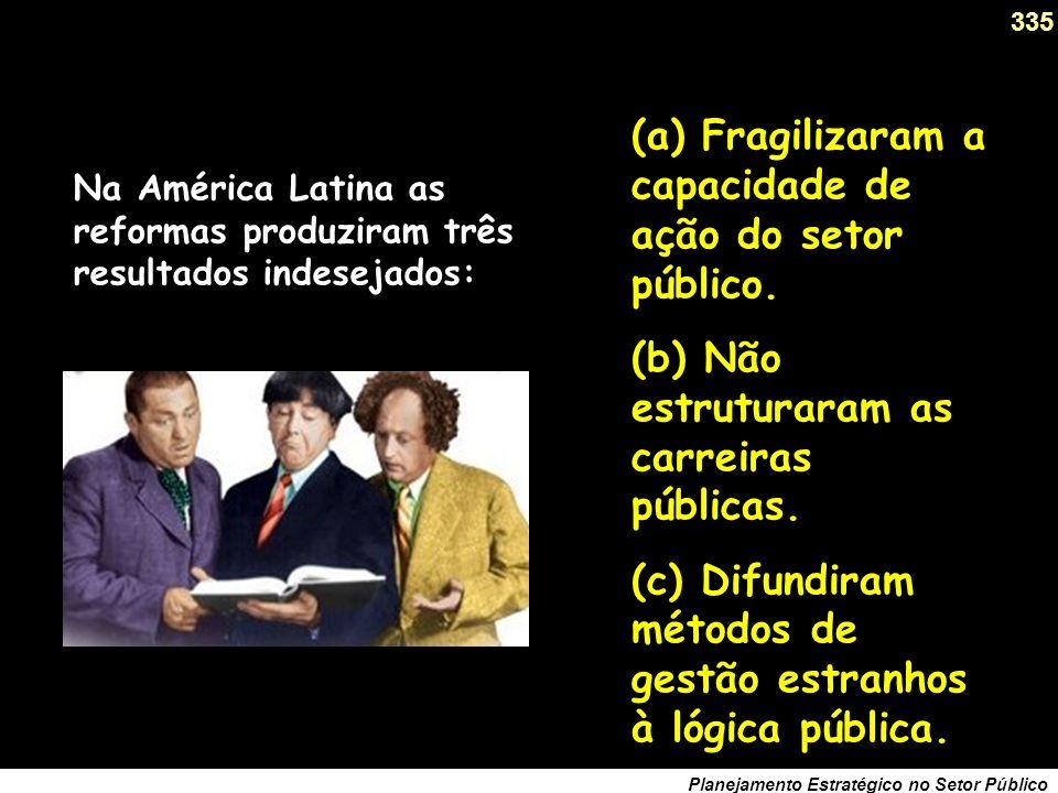 Na América Latina as reformas produziram três resultados indesejados: