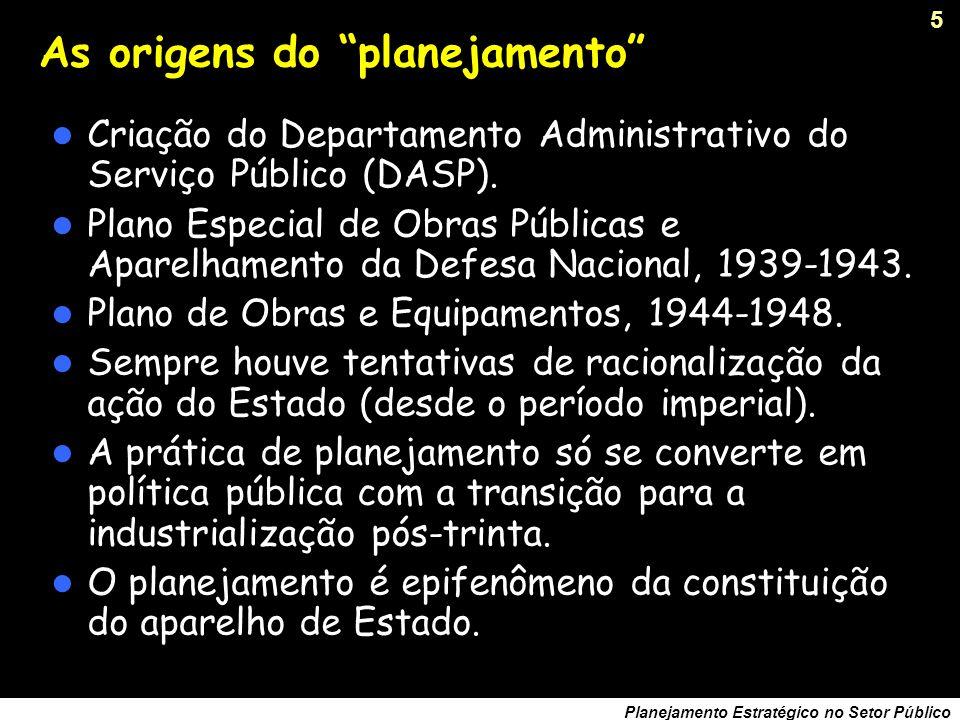 As origens do planejamento