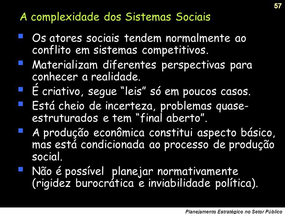 A complexidade dos Sistemas Sociais