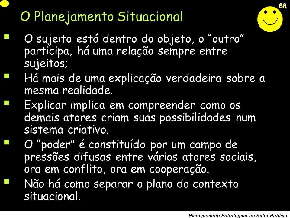 O Planejamento Situacional
