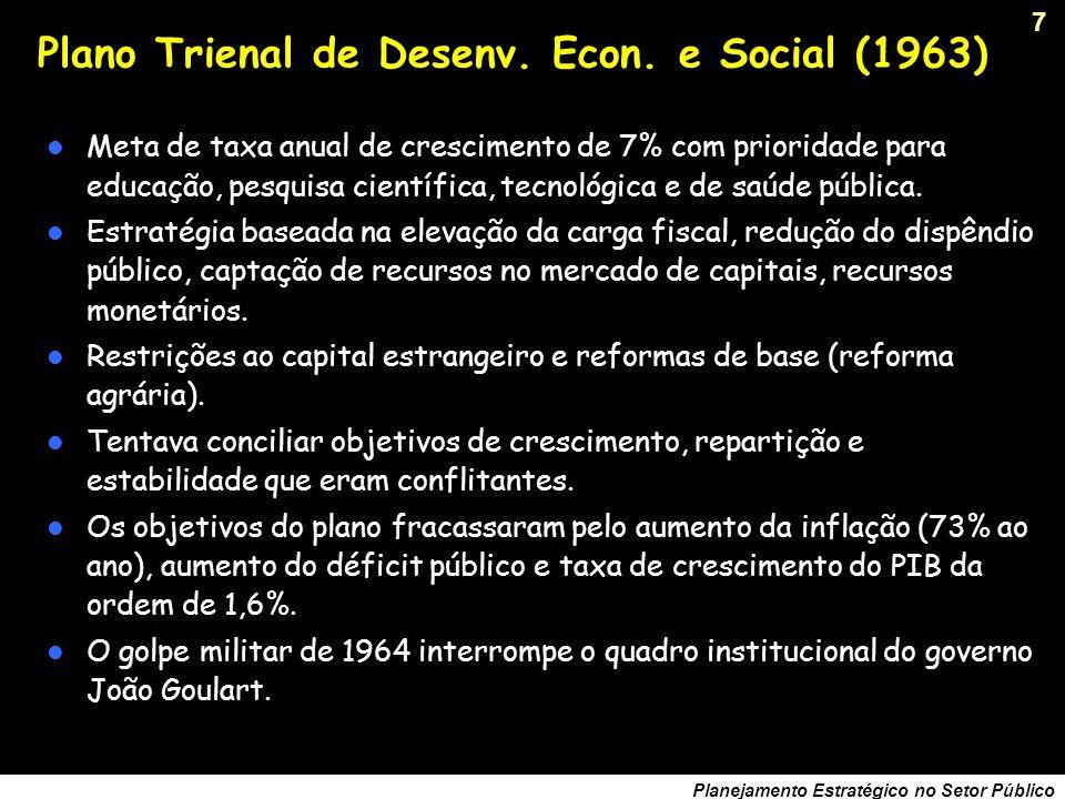 Plano Trienal de Desenv. Econ. e Social (1963)