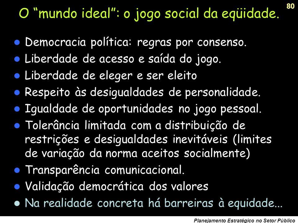 O mundo ideal : o jogo social da eqüidade.