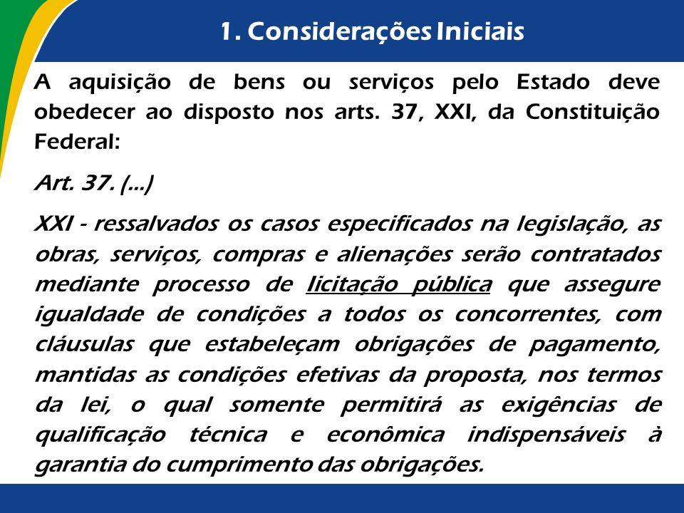 1. Considerações Iniciais