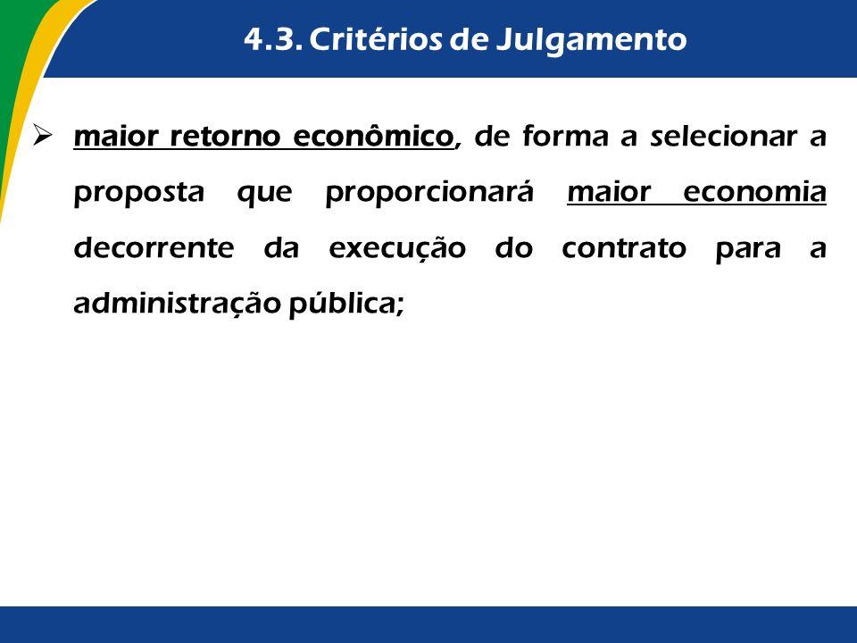 4.3. Critérios de Julgamento