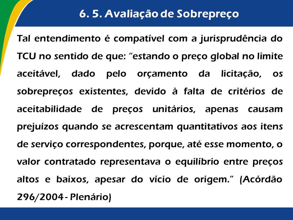 6. 5. Avaliação de Sobrepreço