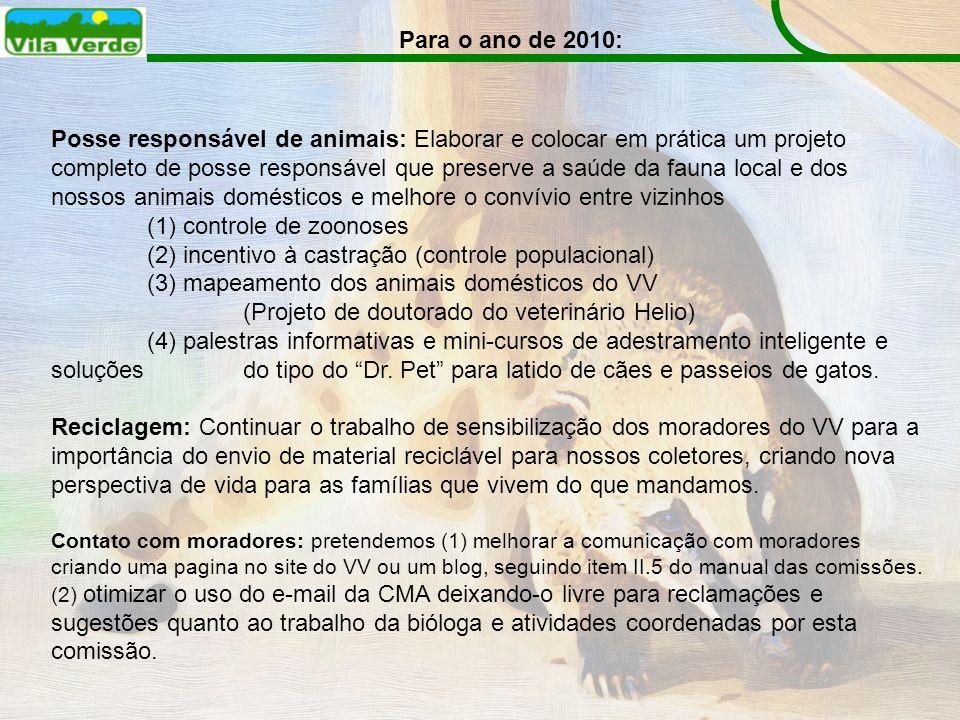 (1) controle de zoonoses