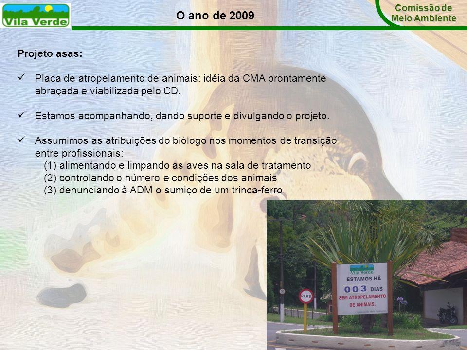 Comissão de Meio Ambiente. O ano de 2009. Projeto asas: