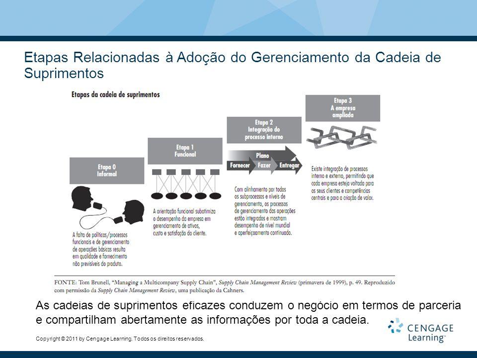 Etapas Relacionadas à Adoção do Gerenciamento da Cadeia de Suprimentos