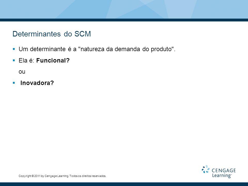 Determinantes do SCM Um determinante é a natureza da demanda do produto . Ela é: Funcional ou. Inovadora