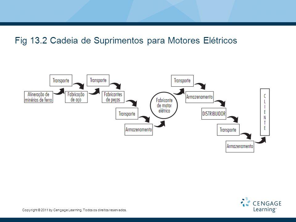 Fig 13.2 Cadeia de Suprimentos para Motores Elétricos
