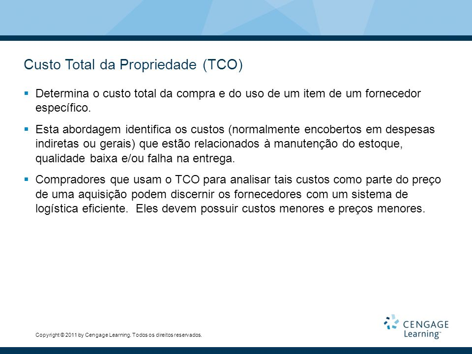 Custo Total da Propriedade (TCO)