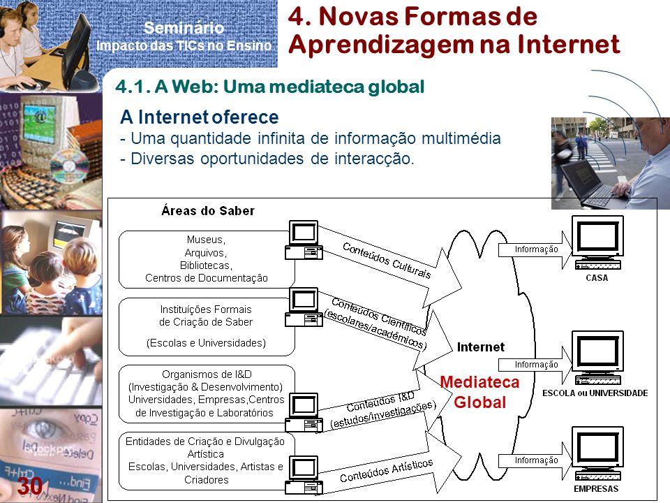 4. Novas Formas de Aprendizagem na Internet