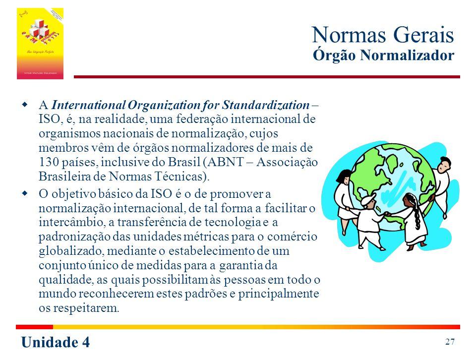Normas Gerais Órgão Normalizador
