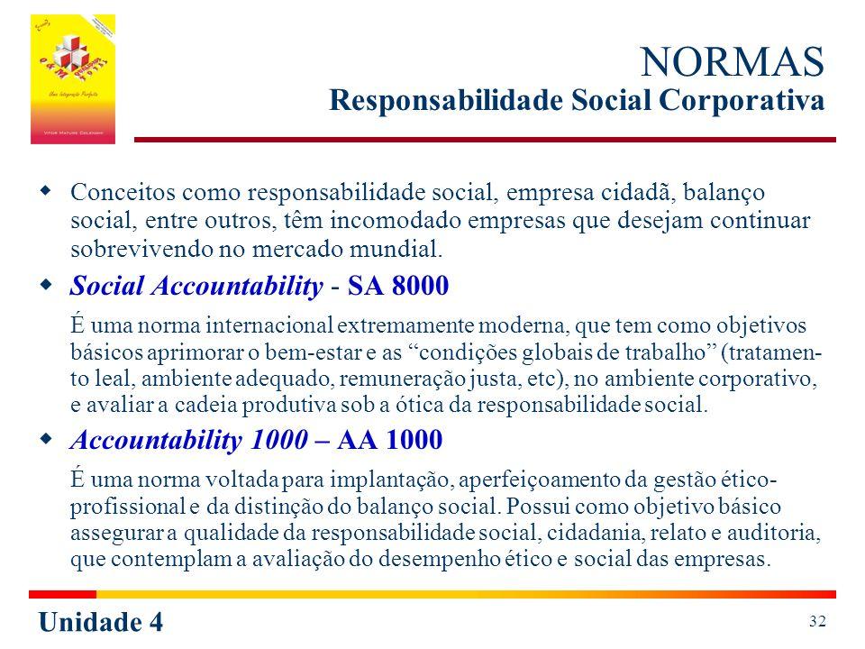 NORMAS Responsabilidade Social Corporativa
