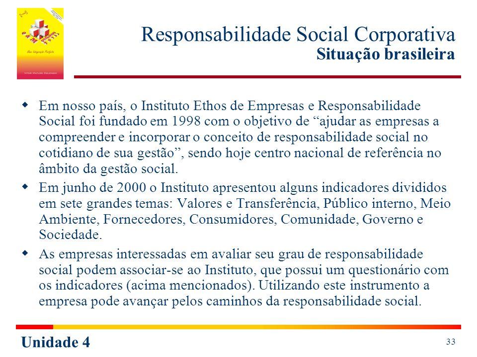 Responsabilidade Social Corporativa Situação brasileira