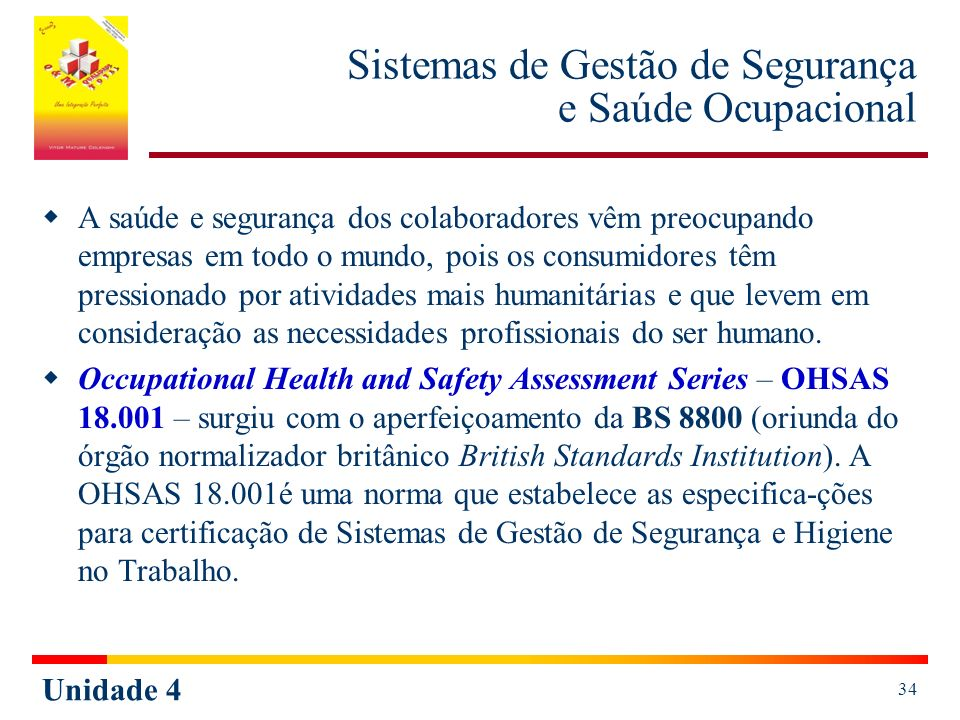 Sistemas de Gestão de Segurança e Saúde Ocupacional