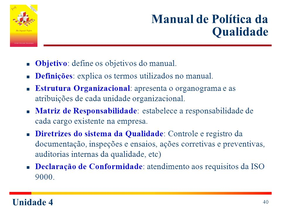 Manual de Política da Qualidade