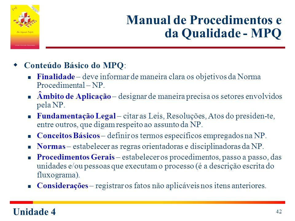 Manual de Procedimentos e da Qualidade - MPQ
