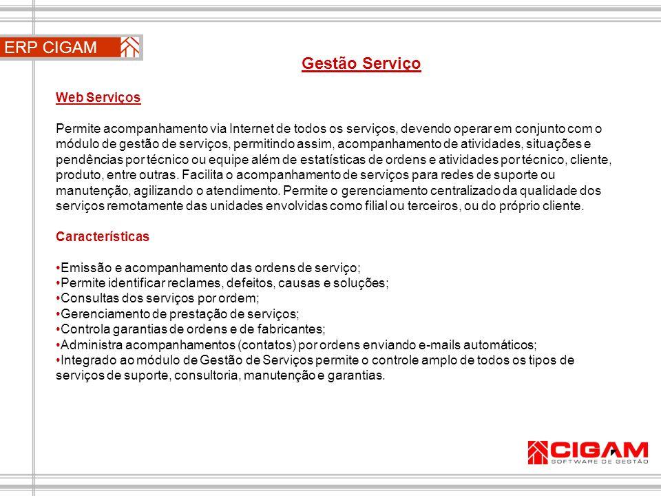 ERP CIGAM Gestão Serviço Web Serviços
