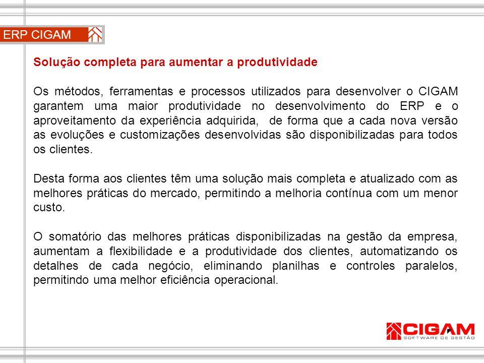 ERP CIGAM Solução completa para aumentar a produtividade.
