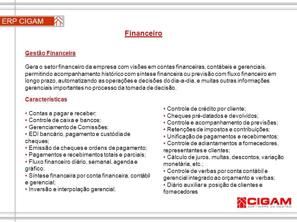 ERP CIGAM Financeiro Gestão Financeira