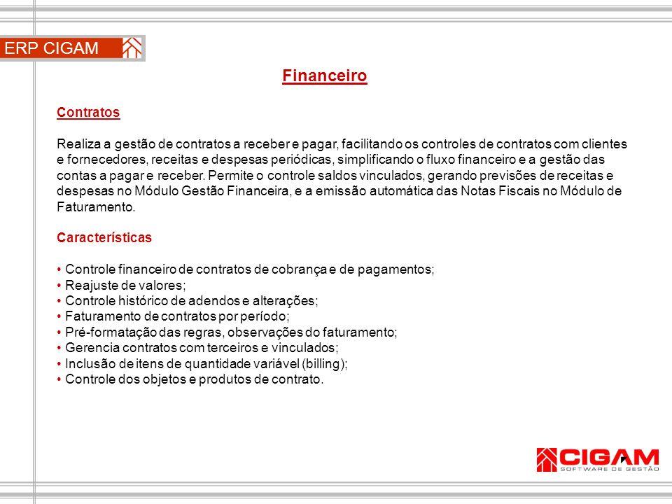 ERP CIGAM Financeiro Contratos