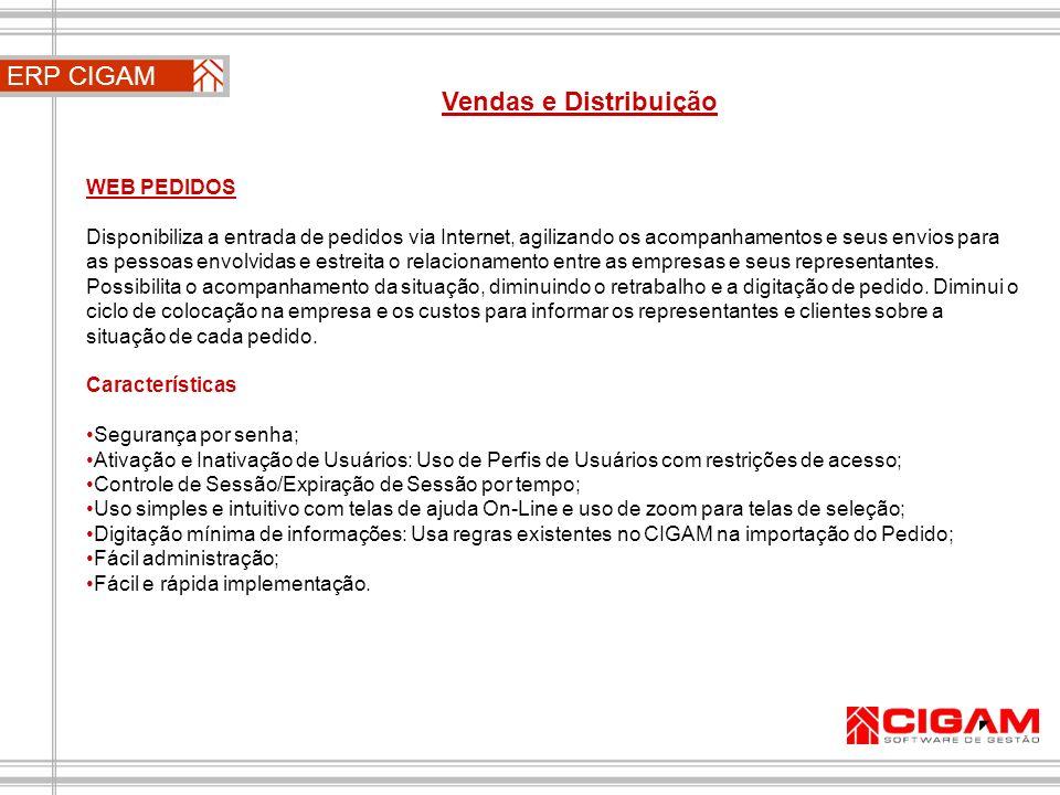 ERP CIGAM Vendas e Distribuição WEB PEDIDOS