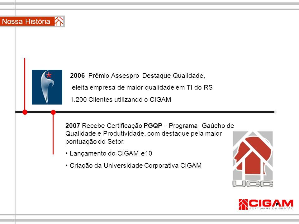 Nossa História 2006 Prêmio Assespro Destaque Qualidade,
