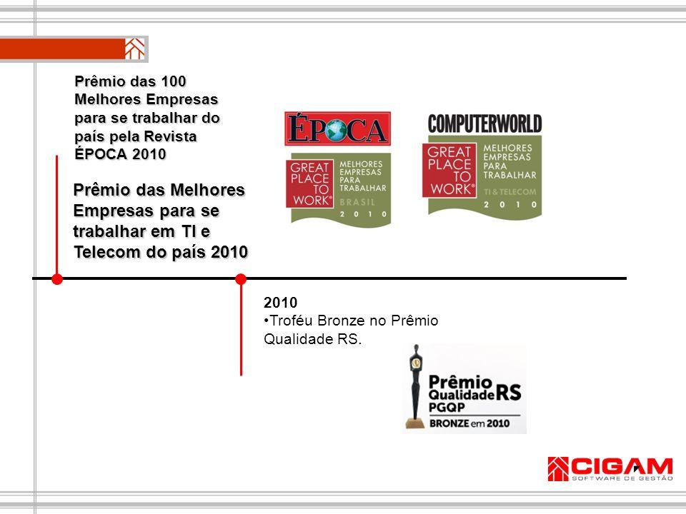 Prêmio das 100 Melhores Empresas para se trabalhar do país pela Revista ÉPOCA 2010
