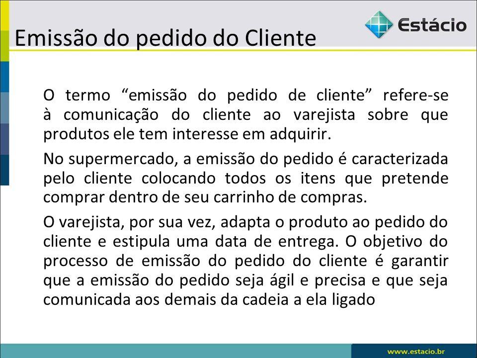 Emissão do pedido do Cliente
