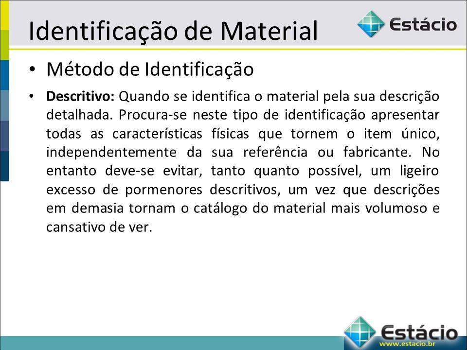 Identificação de Material