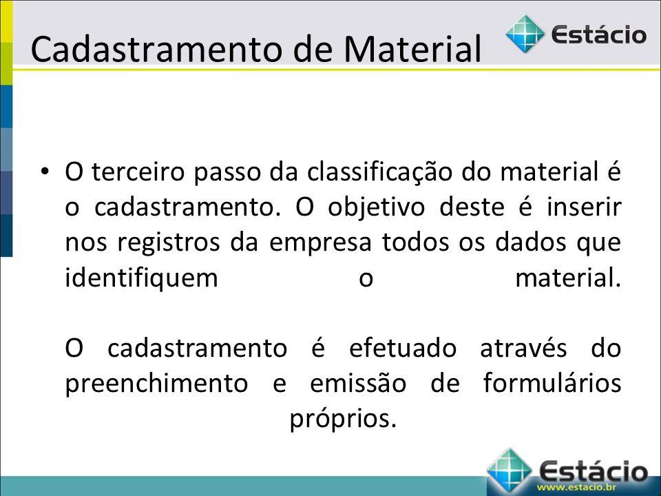 Cadastramento de Material