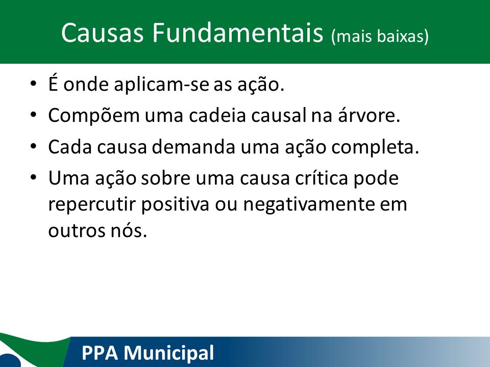 Causas Fundamentais (mais baixas)