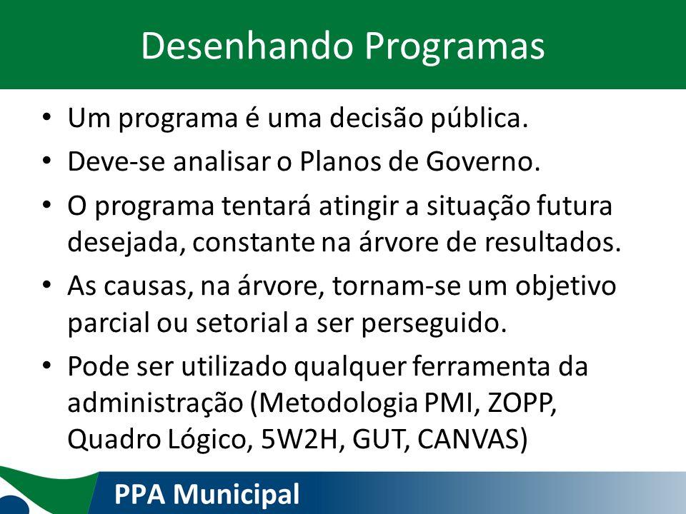 Desenhando Programas Um programa é uma decisão pública.