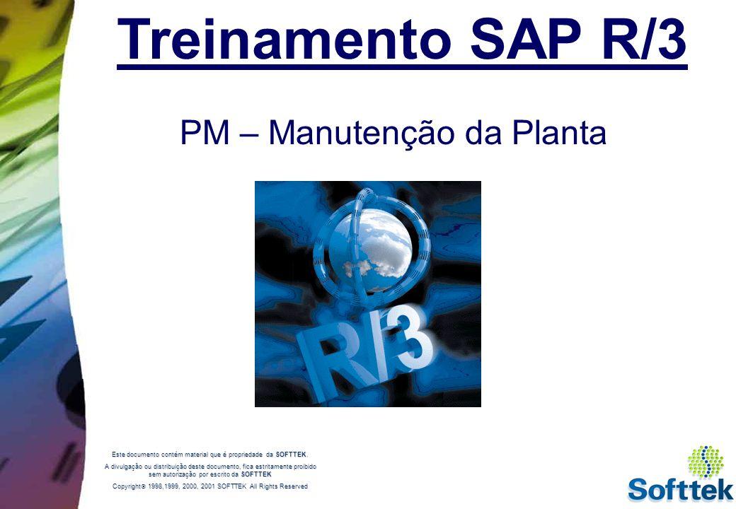 Treinamento SAP R/3 PM – Manutenção da Planta