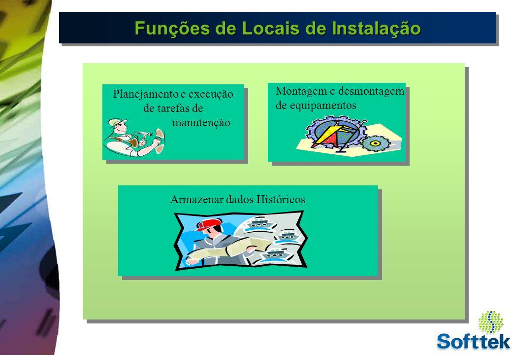 Funções de Locais de Instalação