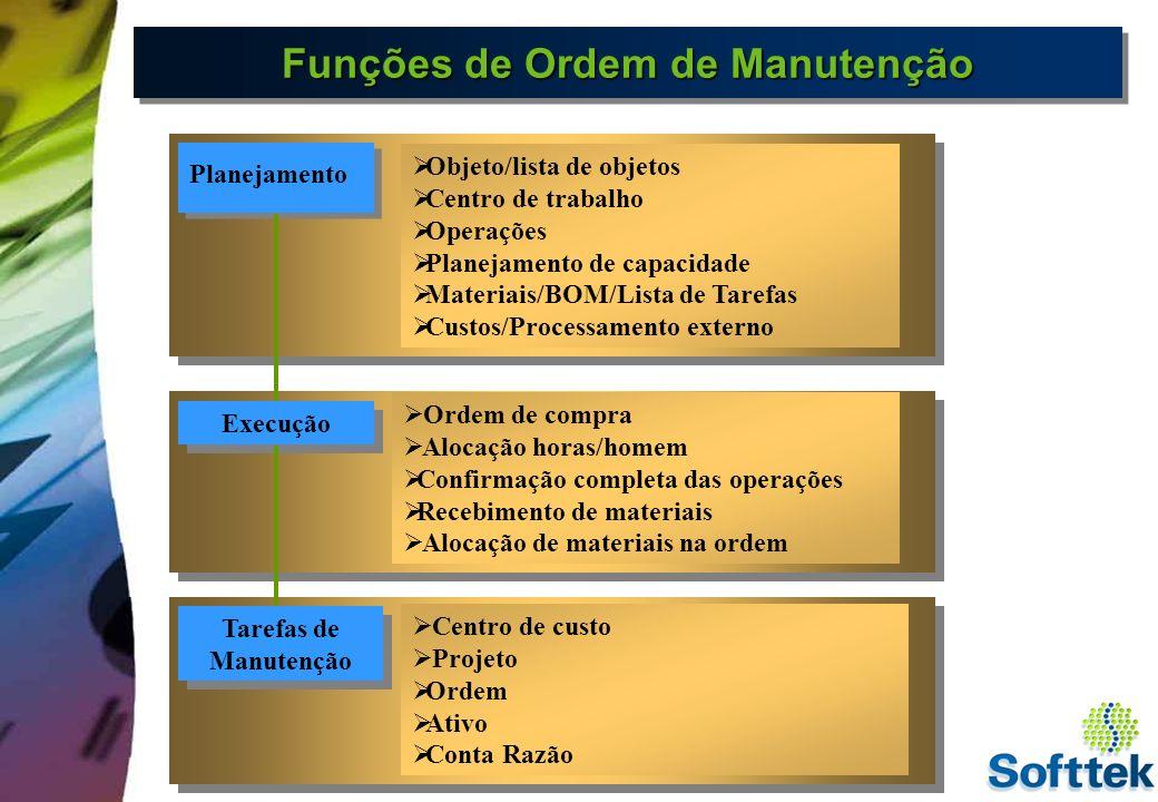 Funções de Ordem de Manutenção