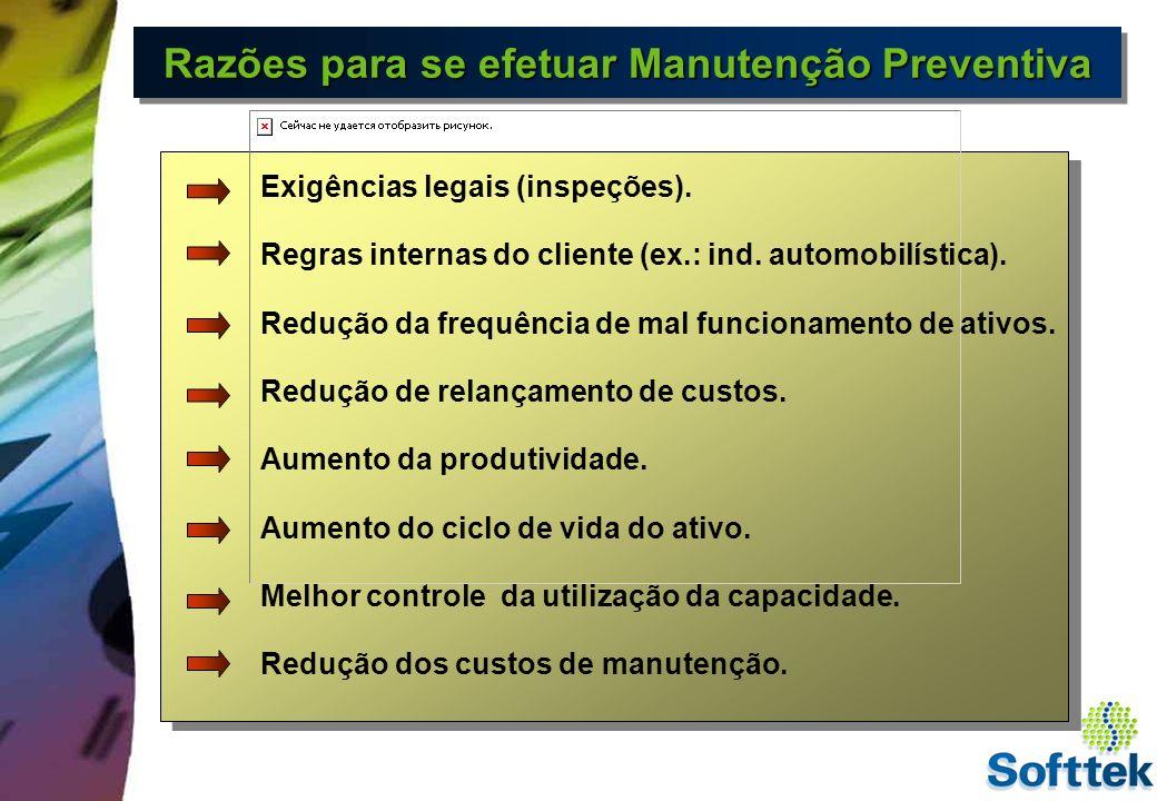 Razões para se efetuar Manutenção Preventiva