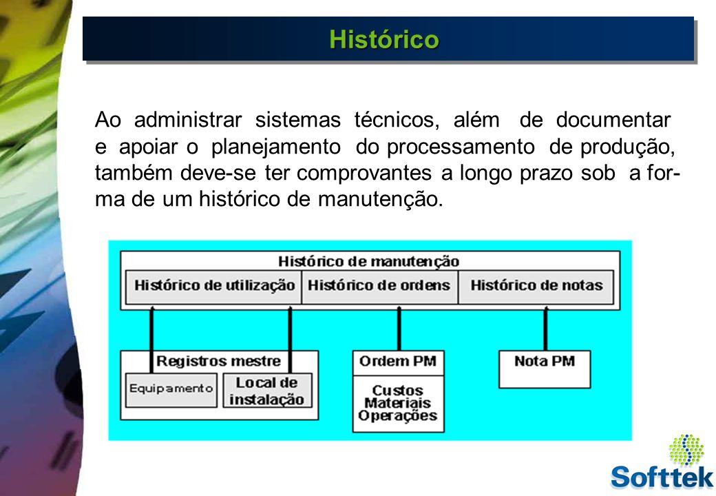 Histórico Ao administrar sistemas técnicos, além de documentar