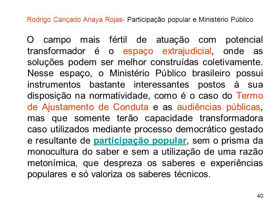 Rodrigo Cançado Anaya Rojas- Participação popular e Ministério Público