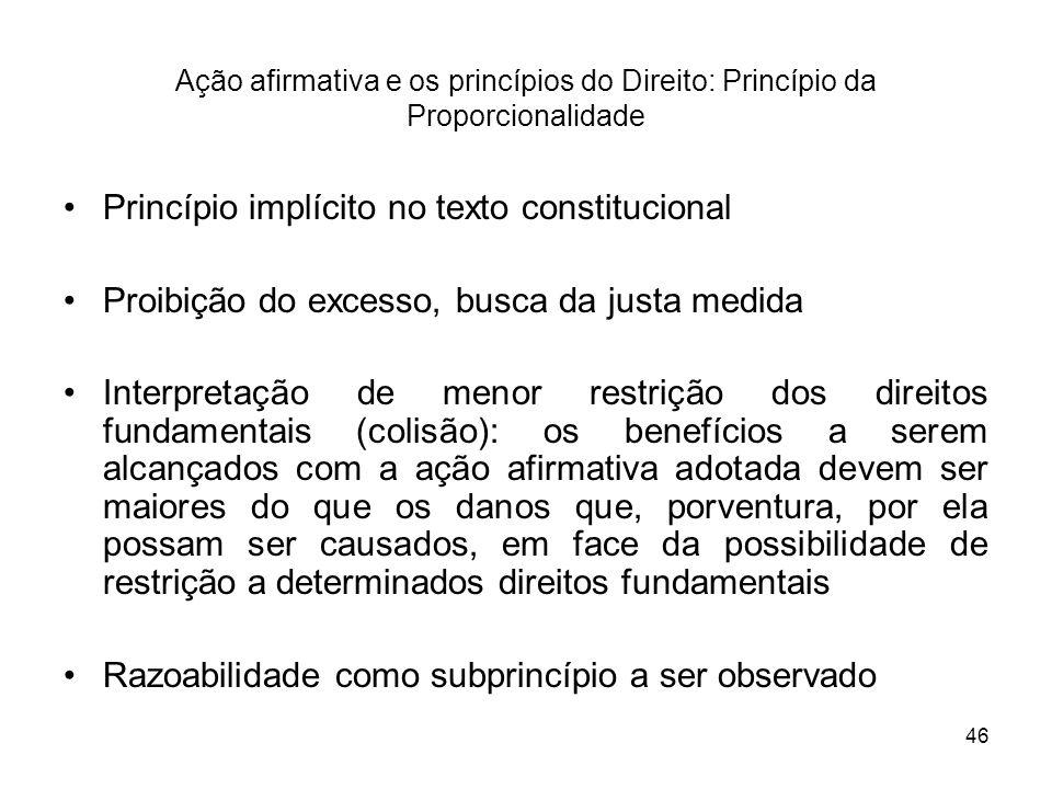 Princípio implícito no texto constitucional