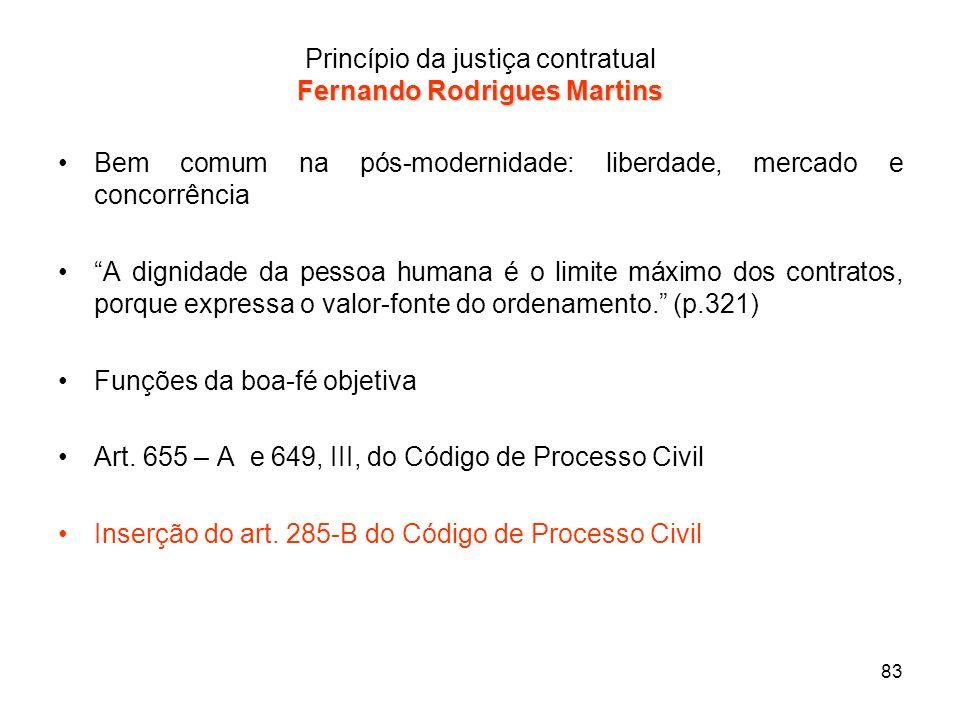 Princípio da justiça contratual Fernando Rodrigues Martins