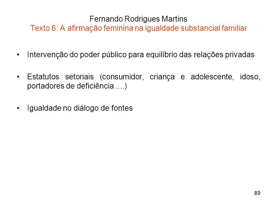 Fernando Rodrigues Martins Texto 6: A afirmação feminina na igualdade substancial familiar