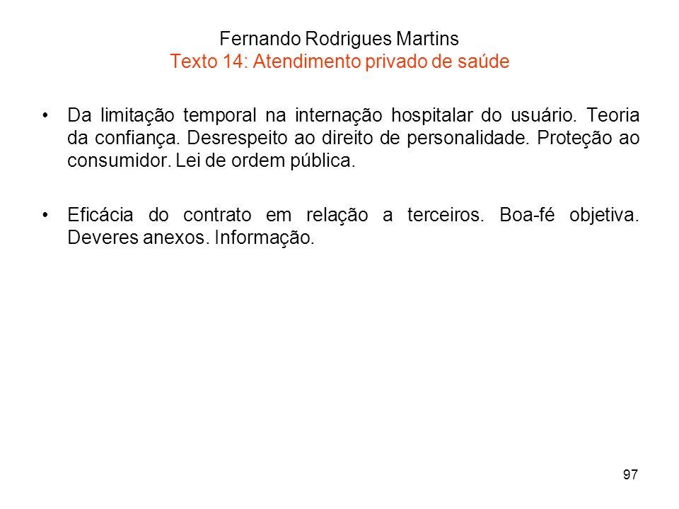 Fernando Rodrigues Martins Texto 14: Atendimento privado de saúde