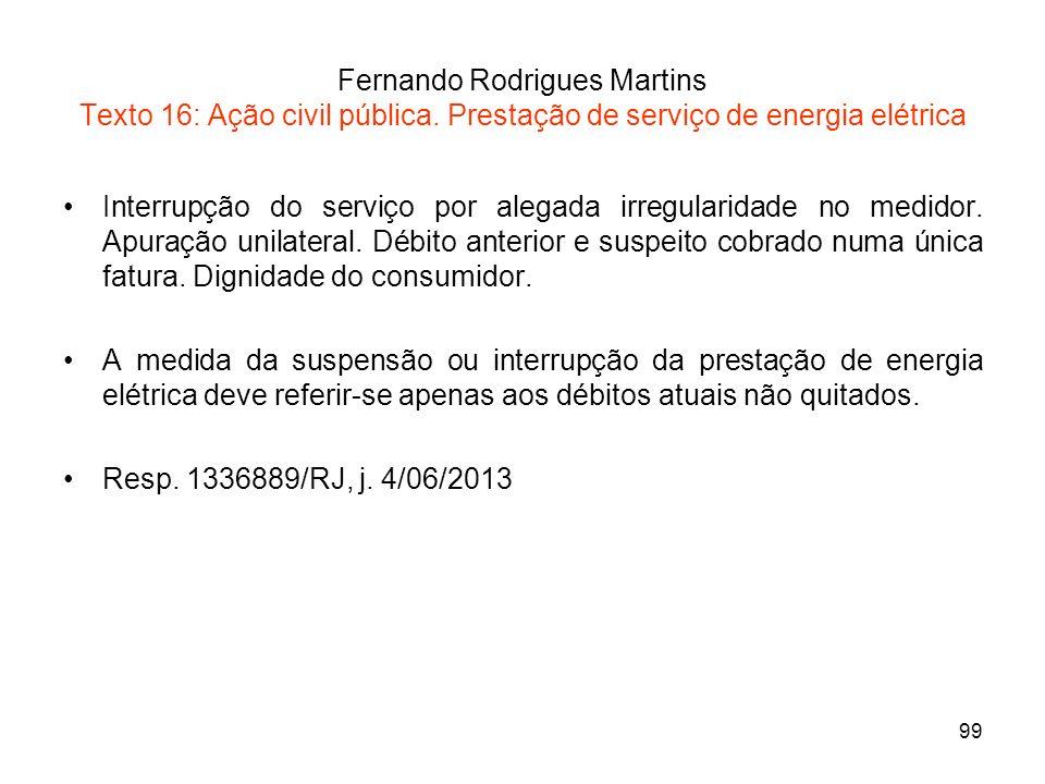 Fernando Rodrigues Martins Texto 16: Ação civil pública