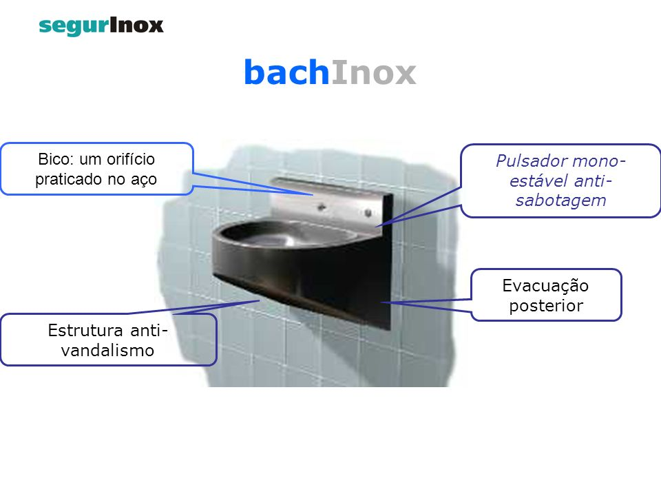 bachInox Bico: um orifício praticado no aço
